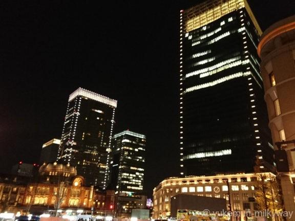 東京駅丸の内駅舎とKITTE