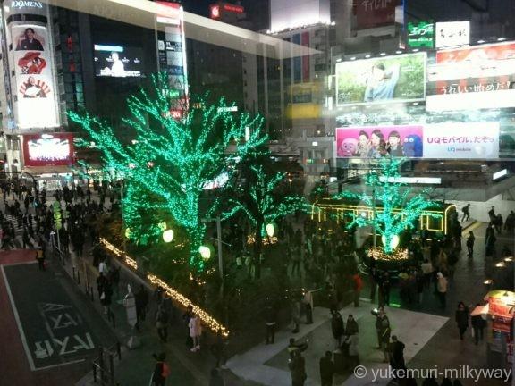 渋谷ハチ公前広場イルミ1