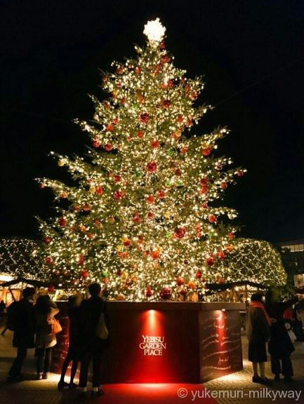 恵比寿ガーデンプレイスクリスマスツリー南側