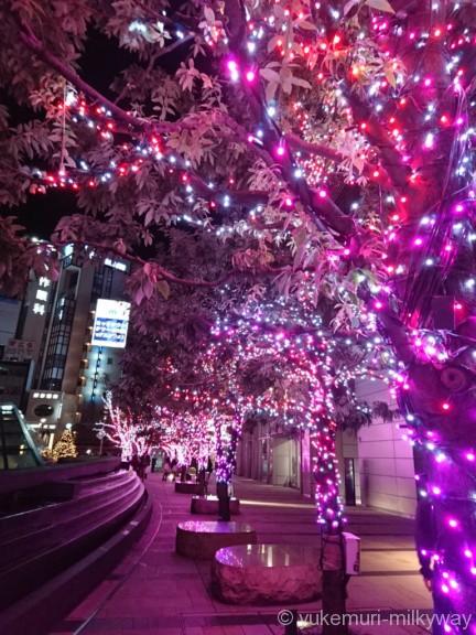 東京ミッドタウン ウェルカムイルミ紫