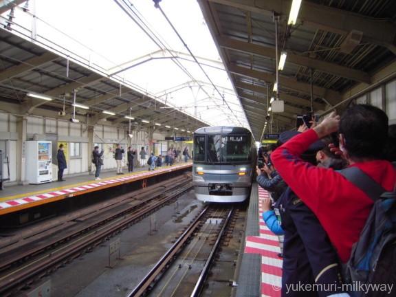 日比谷線13000系特別運行 南千住駅入線