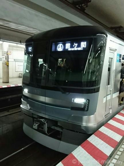 日比谷線13000系特別運行 13101@小伝馬町駅