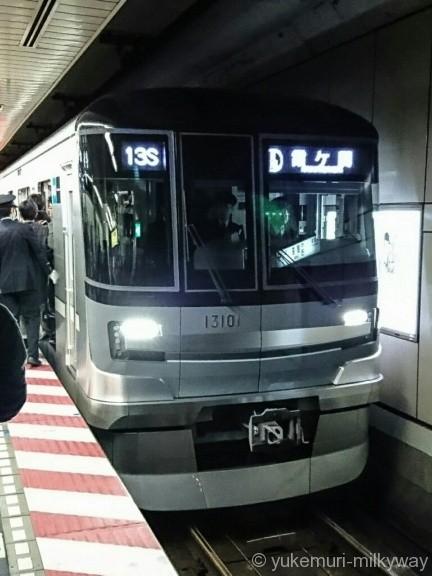 日比谷線13000系特別運行 13101@銀座駅