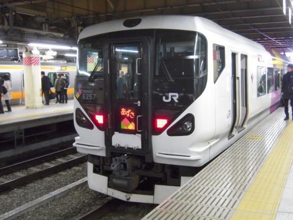 JR東日本E257系 あずさ7号 松本行き クハE257-106 @新宿