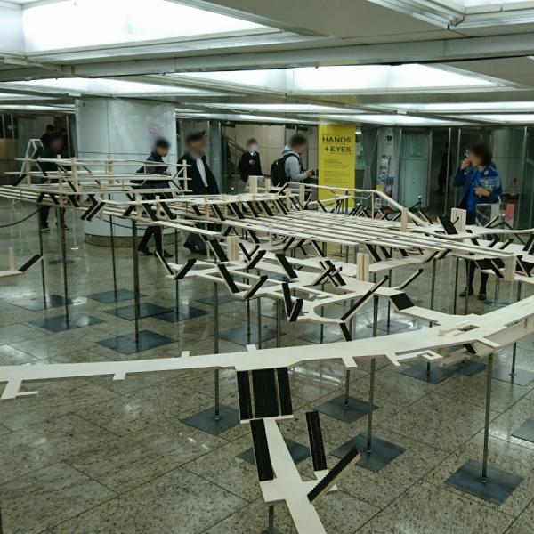 新宿駅立体模型
