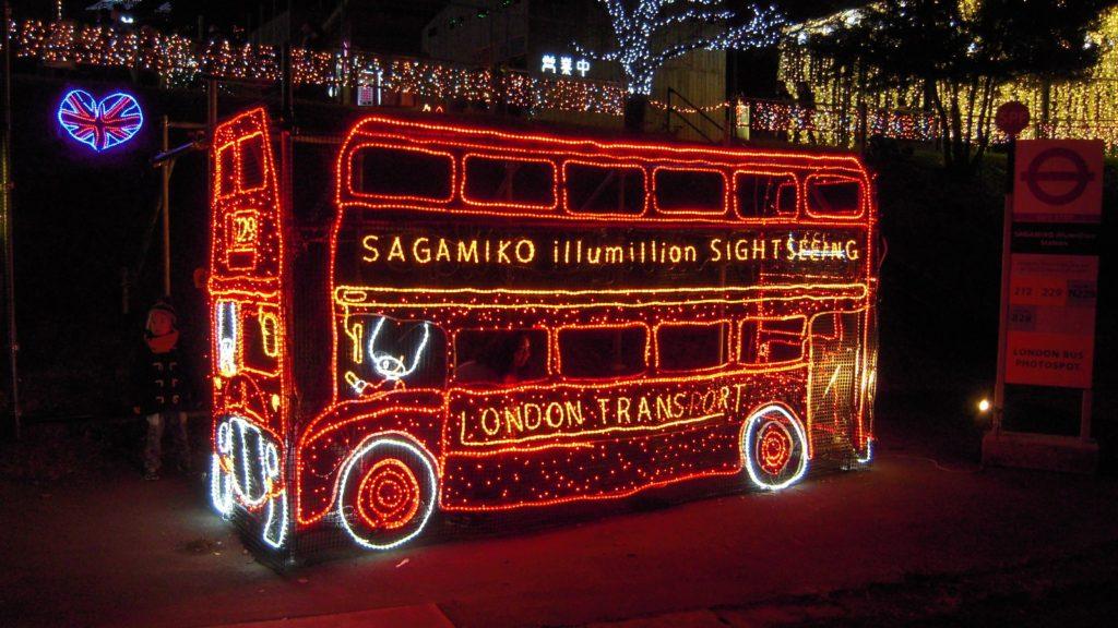 さがみ湖イルミリオン ロンドンバス