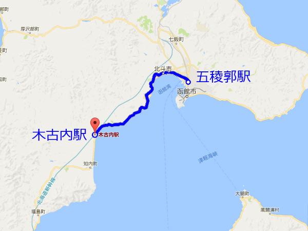 道南いさりび鉄道 路線描画