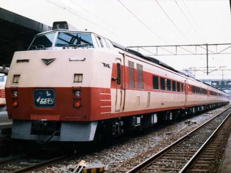 国鉄キハ183系 特急 おおぞら @札幌 1986