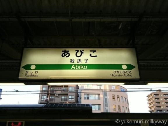 我孫子駅常磐線快速・成田線2番ホーム駅名標
