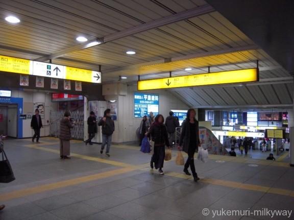 阿佐ケ谷駅階段踊り場