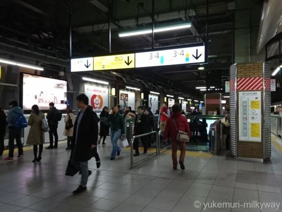 恵比寿駅山手線ホーム西口エスカレーター