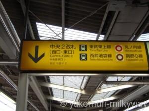 池袋駅JR中央2改札階段看板
