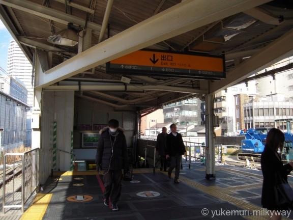 板橋駅出口階段