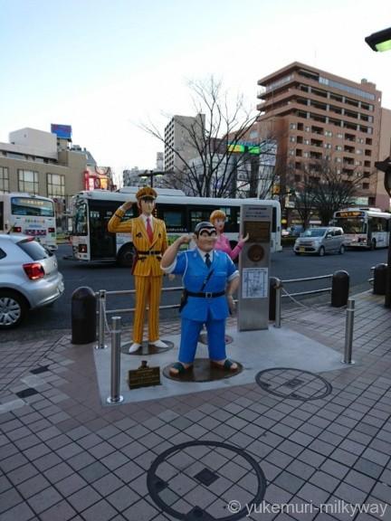 亀有駅 南口こち亀像