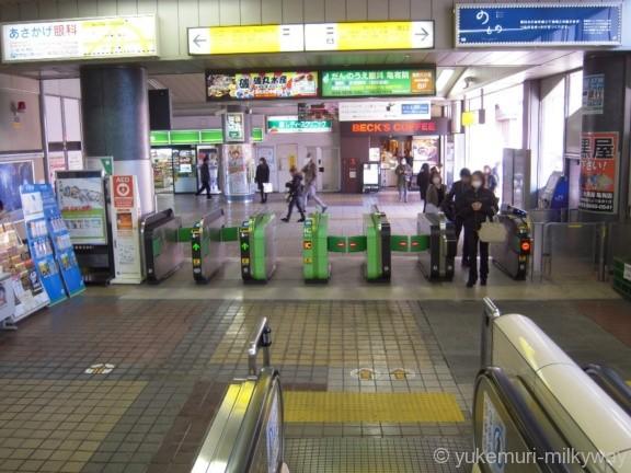 亀有駅改札