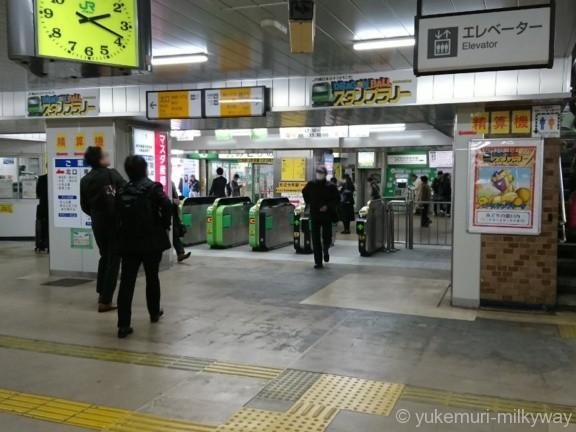 金町駅改札