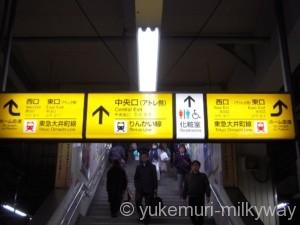 大井町駅京浜東北線ホーム中央口案内