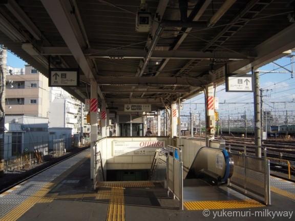 尾久駅ホーム 出口階段
