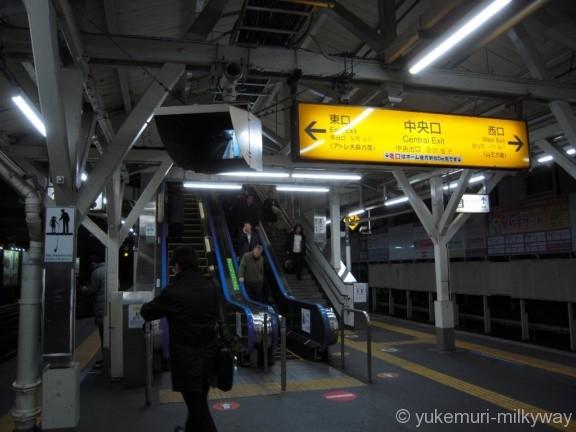 大森駅ホーム中央口エスカレーター
