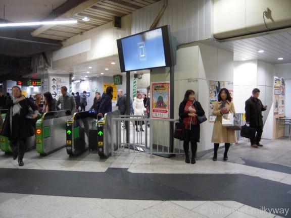 新橋駅JR銀座改札外側
