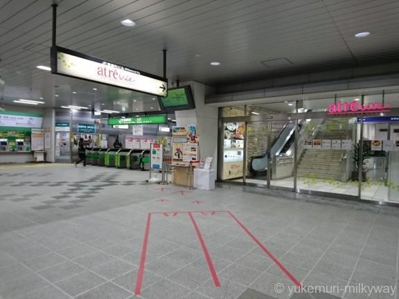 ドラゴンボールスタンプラリー 信濃町駅スタンプ台遠望