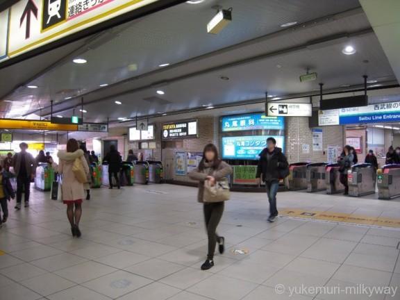 高田馬場駅JR早稲田口・のりかえ口改札