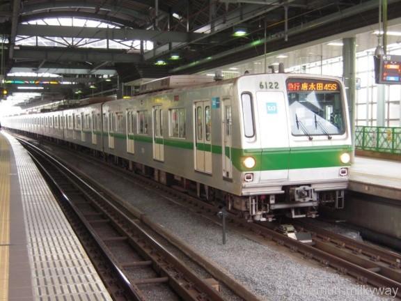 東京メトロ6000系 急行唐木田行き 6122F 6122 @登戸