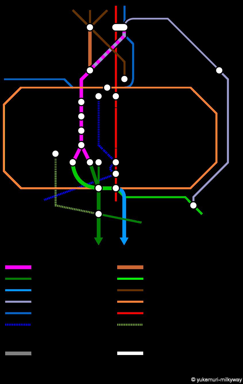 なにわ筋線関連路線図