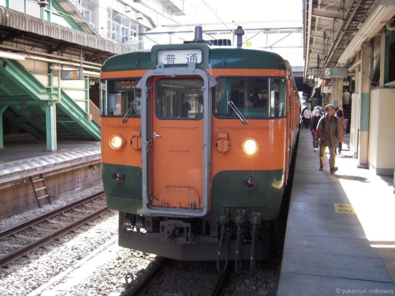 JR東日本115系 普通 水上行き 高タカT1090編成 クハ115-1114 @高崎 14-03-21