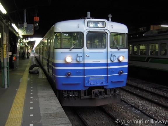 JR東日本115系 普通 水上行き クハ115-1059 @長岡