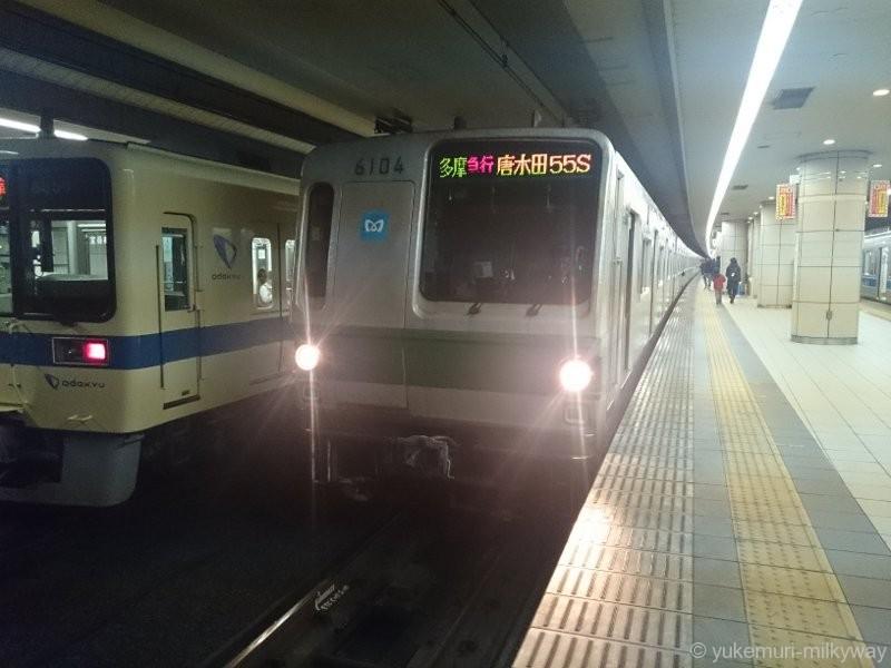 東京メトロ6000系 多摩急行 唐木田行き 04F 6104 @成城学園前 15-04-11