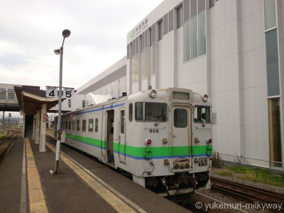 JR北海道キハ40系 普通 木古内行き キハ40-808 @木古内