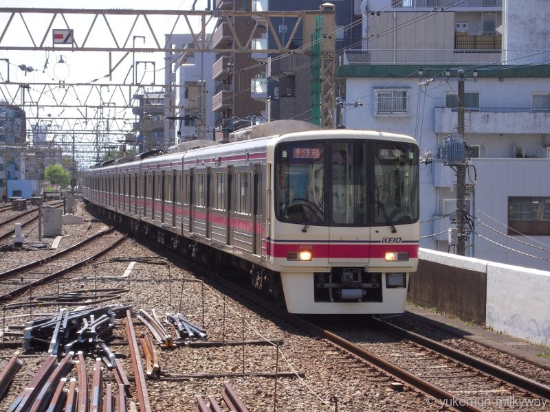 京王8000系 準特急 新宿行き 8708F クハ8708 @笹塚 17-04-23