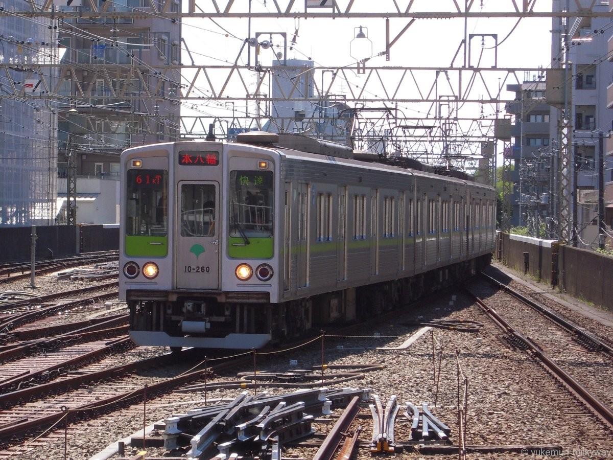 東京都交通局10-000形 快速本八幡行き 10-260F 10-260 @笹塚 17-04-23