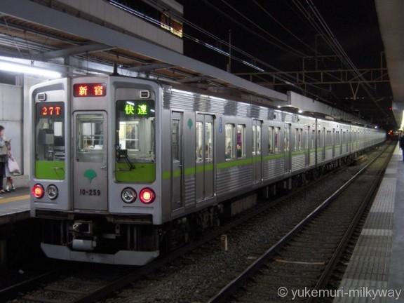 東京都交通局10-000形 快速新線新宿行き 10-250F 10-259 @明大前 17-04-27
