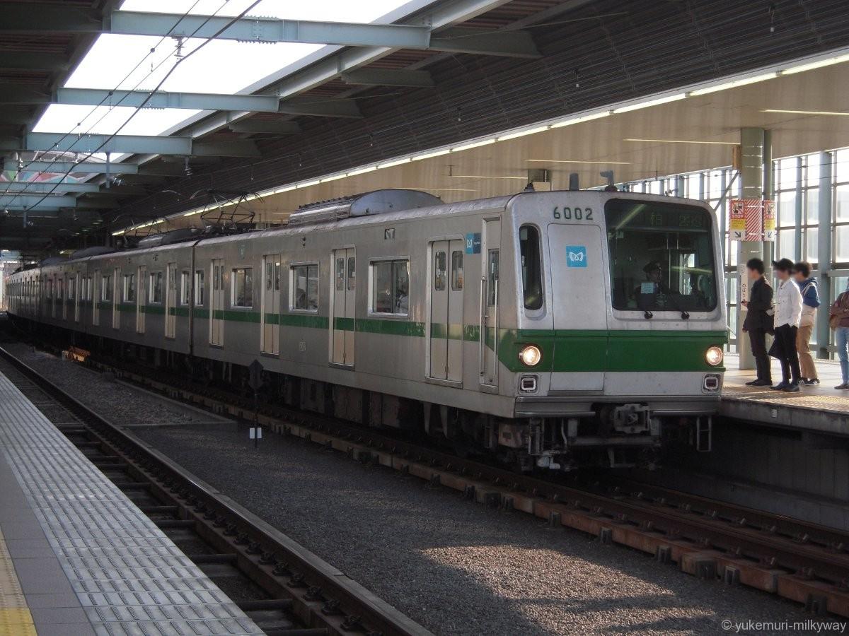 東京メトロ6000系 急行 柏行き 02編成 6002 @登戸 17-04-29