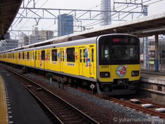 東武50050系 急行久喜行き 51055F クハ50055 @曳舟