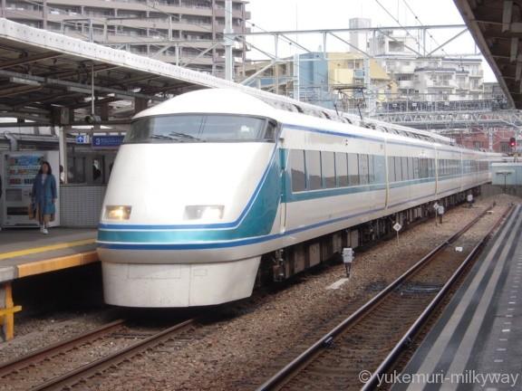 東武100系 特急きぬ112号 浅草行き 109F モハ109-1 @曳舟
