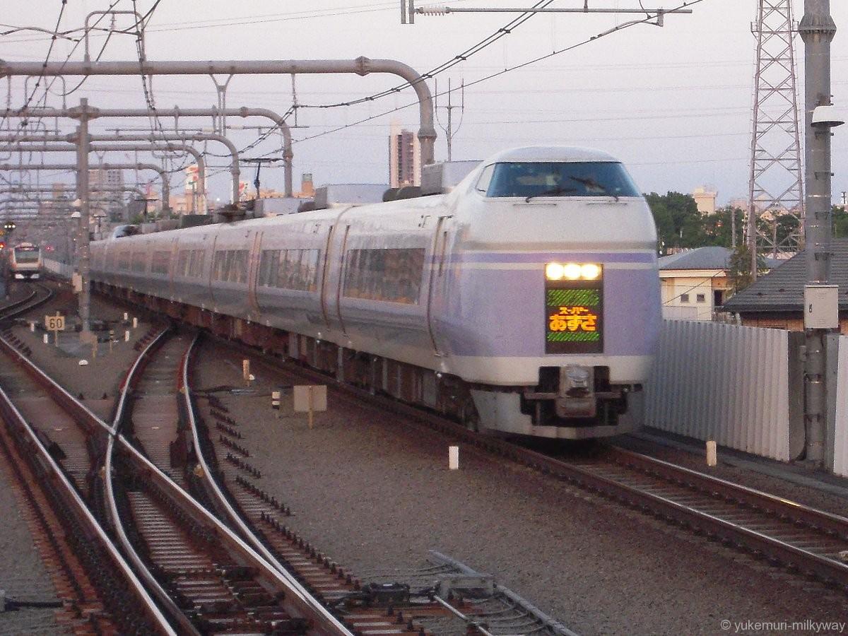 JR東日本E351系 特急 スーパーあずさ29号 松本行き @東小金井 17-05-05
