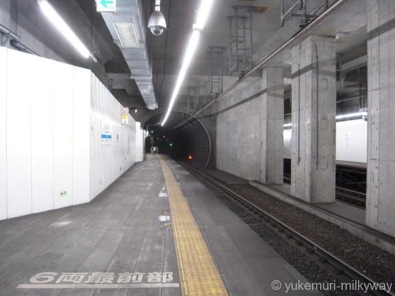 世田谷代田駅 地下仮設ホーム 2番ホーム