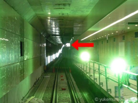 世田谷代田駅 地下1階仮設コンコース(各停ホーム予定)