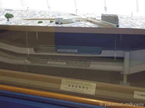 世田谷代田駅 1階 小田急環境ルーム 地下線模型