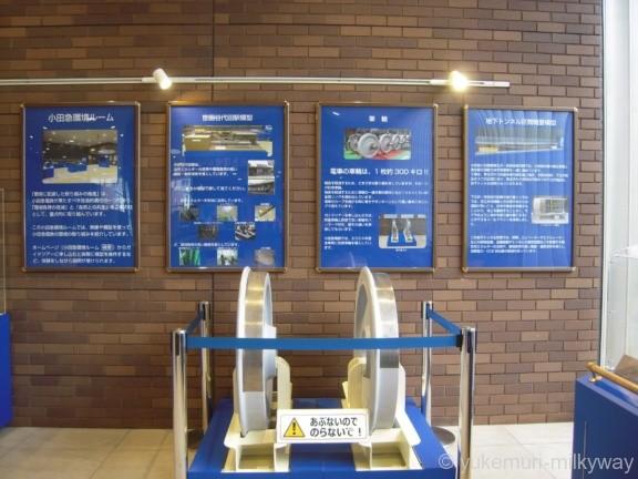 世田谷代田駅 1階 小田急環境ルーム 防音車輪模型