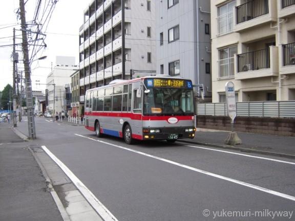 東北沢駅 東口周辺 幡ヶ谷行きバス