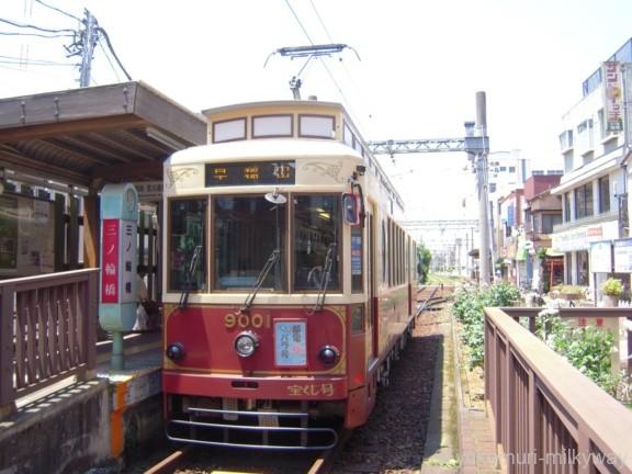 東京都交通局9000形 早稲田行き 9001 都電バラ号 @三ノ輪橋
