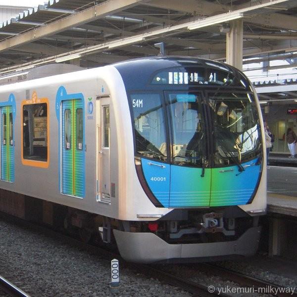 西武40000系 S-TRAIN104号 豊洲行き 40001F クハ40001 @所沢 17-10-27