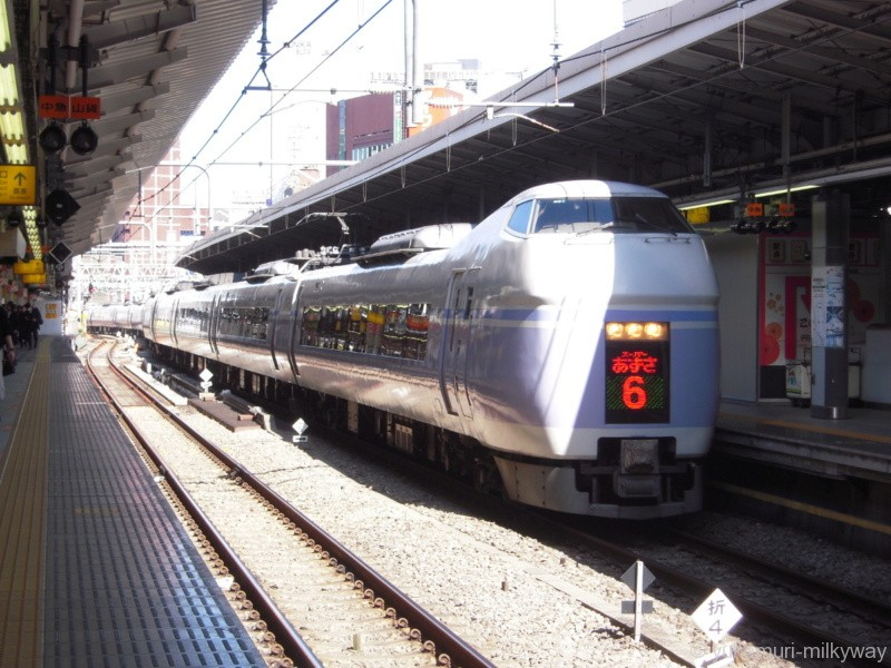 JR東日本E351系 特急 スーパーあずさ6号 東京行き 長モトS21編成 クハE351-1101 @新宿 18-03-01