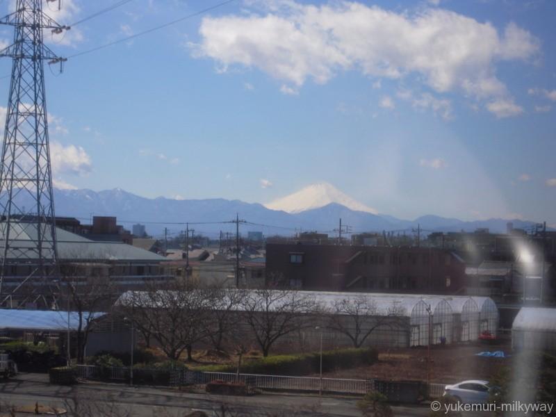 JR東日本E351系 特急 スーパーあずさ15号 松本行き 長モトS1編成 モハE350-1101 @武蔵境~東小金井 車窓 18-03-01