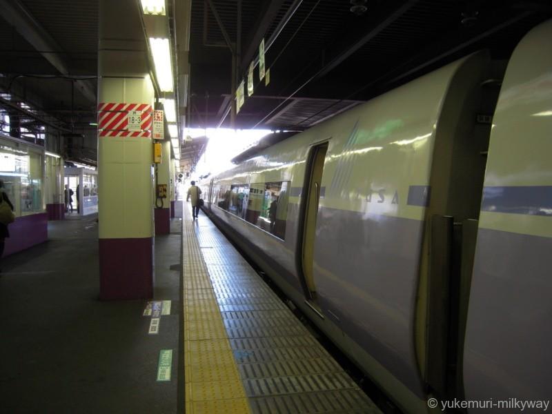 JR東日本E351系 特急 スーパーあずさ15号 松本行き 長モトS1編成 サハE351-1001 @甲府 18-03-01