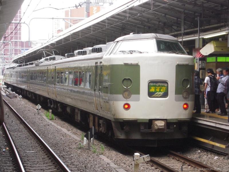 JR東日本189系 特急あずさ81号 長ナノN102編成 クハ189-510 @新宿 18-05-03